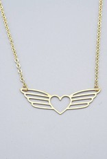Winged Heart Necklace by Mishakaudi