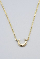 Mini Crescent Gold Plated Necklace by Mishakaudi