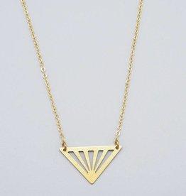 Geometric Triangle Necklace by Mishakaudi
