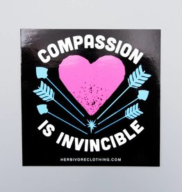 Compassion Is Invincible Arrow Sticker