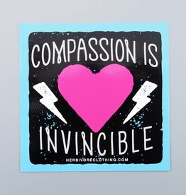 Compassion Is Invincible Bolt Sticker