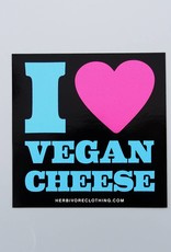 I Heart Vegan Cheese Sticker