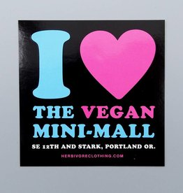 I Heart the Vegan Mini-Mall Sticker