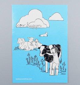 Cow Hugger Sticker