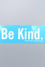 Be Kind. Blue Sticker