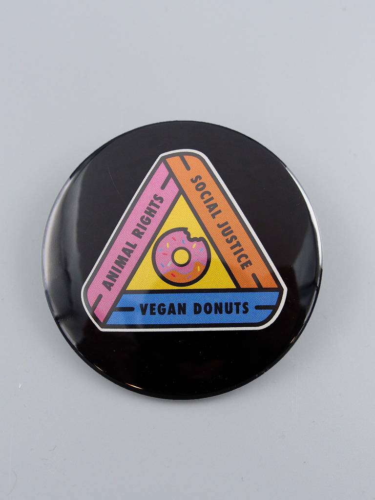 "Animal Rights, Social Justice, Vegan Donuts 3"" Magnet"