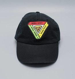 Animal Rights, Social Justice, Vegan Pizza Black Dad Hat