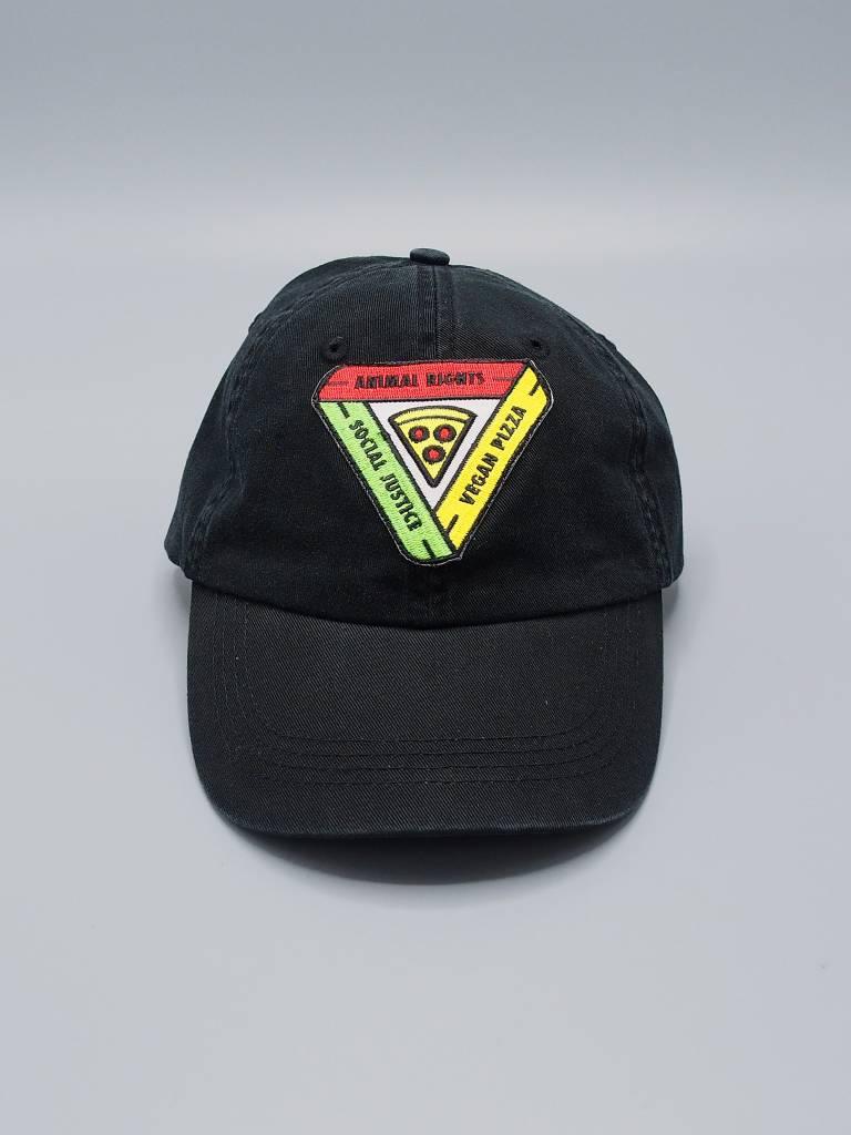 Animal Rights, Social Justice, Vegan Pizza Black Dad Hat