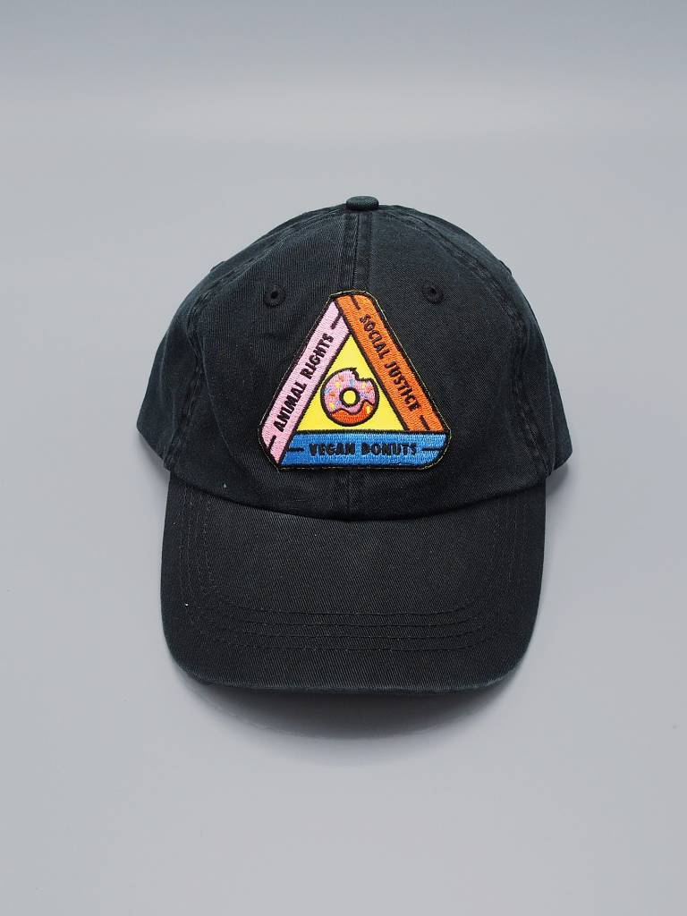 Animal Rights, Social Justice, Vegan Donuts Black Dad Hat
