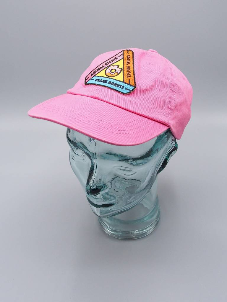 Animal Rights, Social Justice, Vegan Donuts Pink Dad Hat