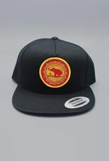 Good Luck Elephant Flat Bill Snapback Hat Black