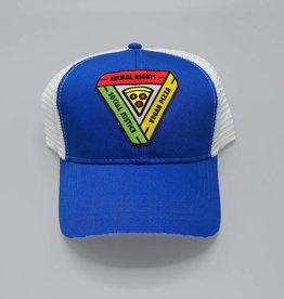 Animal Rights, Social Justice, Vegan Pizza Royal Blue Eco-Snapback Hat