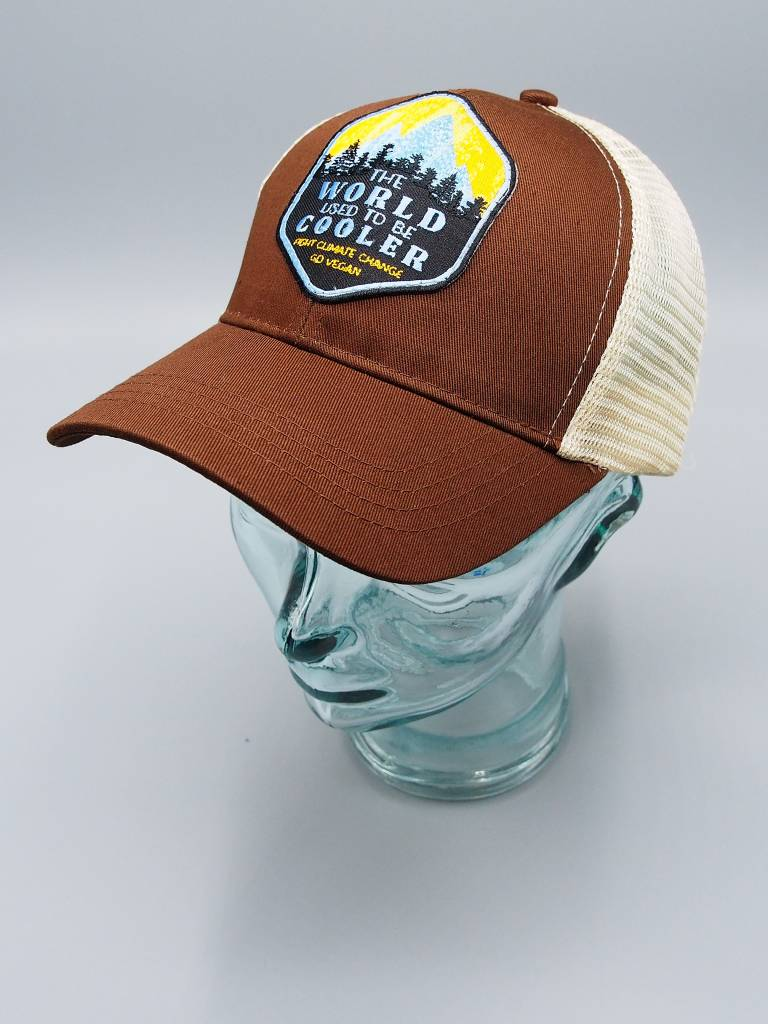 The World Used to be Cooler Brown Eco-Snapback Hat