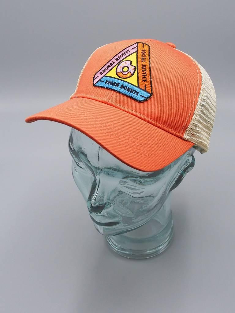 Animal Rights, Social Justice, Vegan Donuts Orange Eco-Snapback Hat