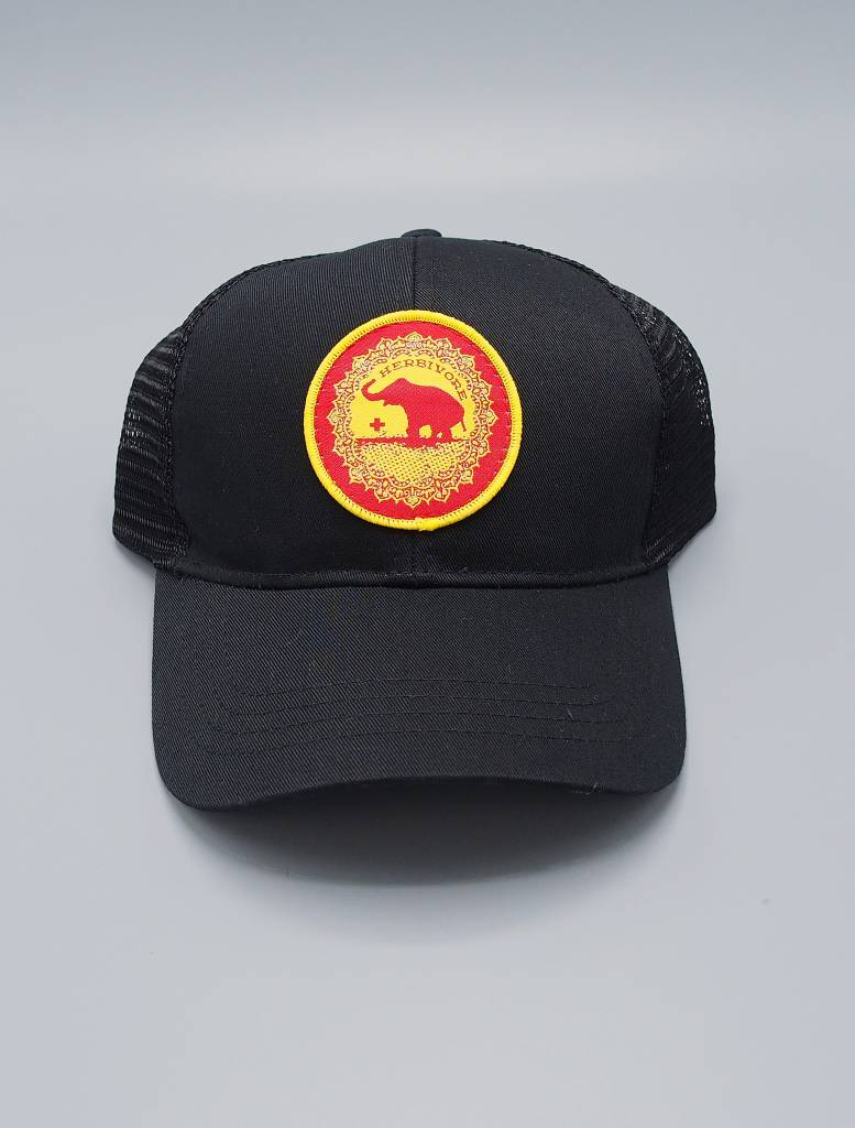 Good Luck Elephant Black Eco-Snapback Hat