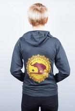 Good Luck Elephant Eco Jersey Zip-Up Unisex Hoodie
