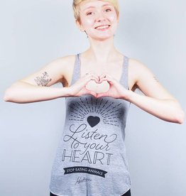 Listen To Your Heart Racerback Tank Top