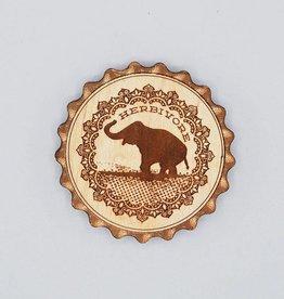 Good Luck Elephant Wood Magnet Bottle Opener