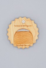 The World Used to be Cooler Wood Bottle Opener Magnet