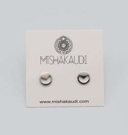 Circle Tri Post Earring by Mishakaudi