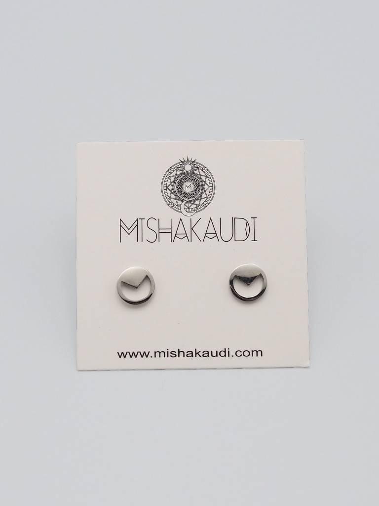 Circle Tri Post Earring by Mishakaudi