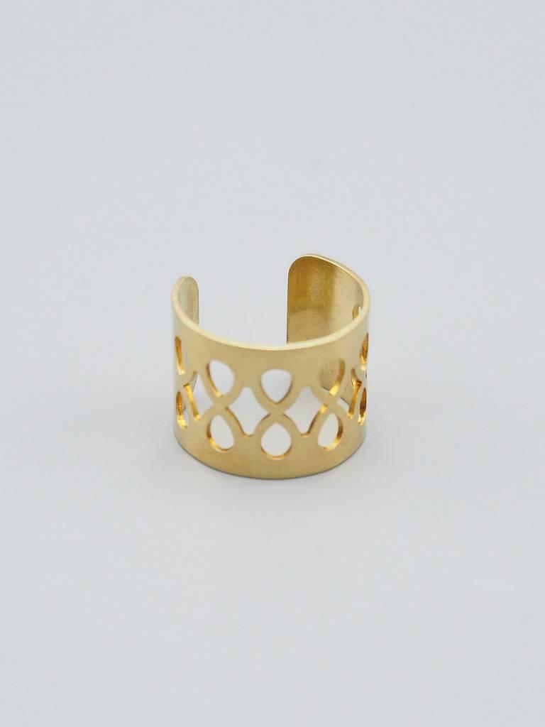 Lace Brass Ring Cuff