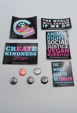 Give a Damn Sticker/Button Pack!