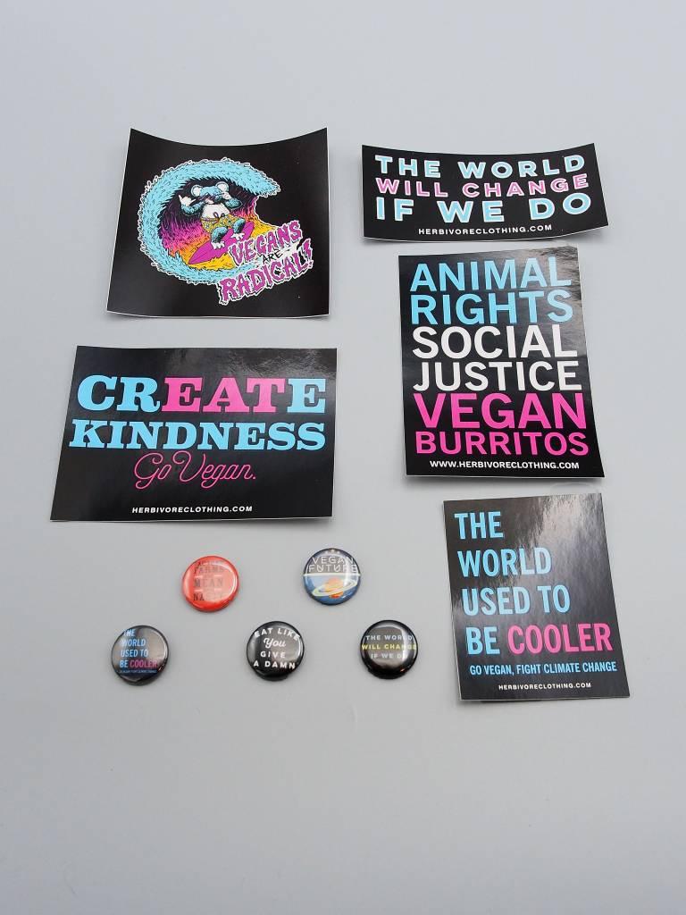 Give a Damn Sticker/Button Set!
