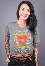 Compassion Is Invincible V-Neck Tee
