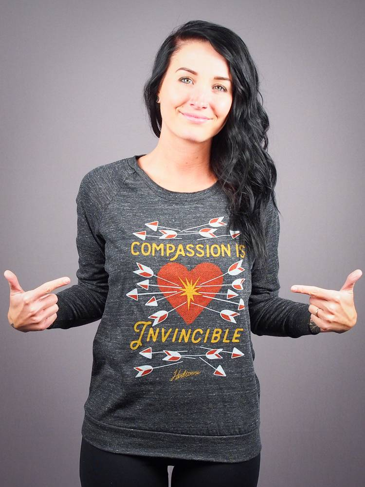 Compassion Is Invincible Women's Slouchy Pullover