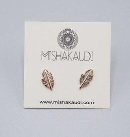 Feather Earrings by Mishakaudi