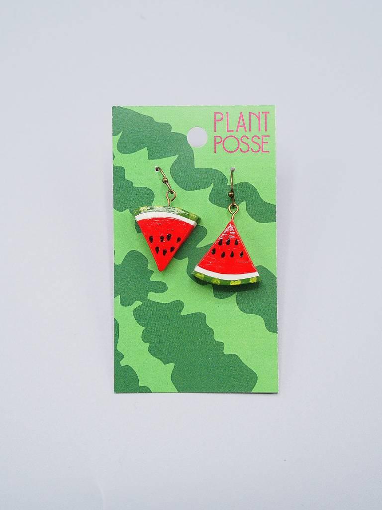 Plant Posse Red Watermelon Earrings