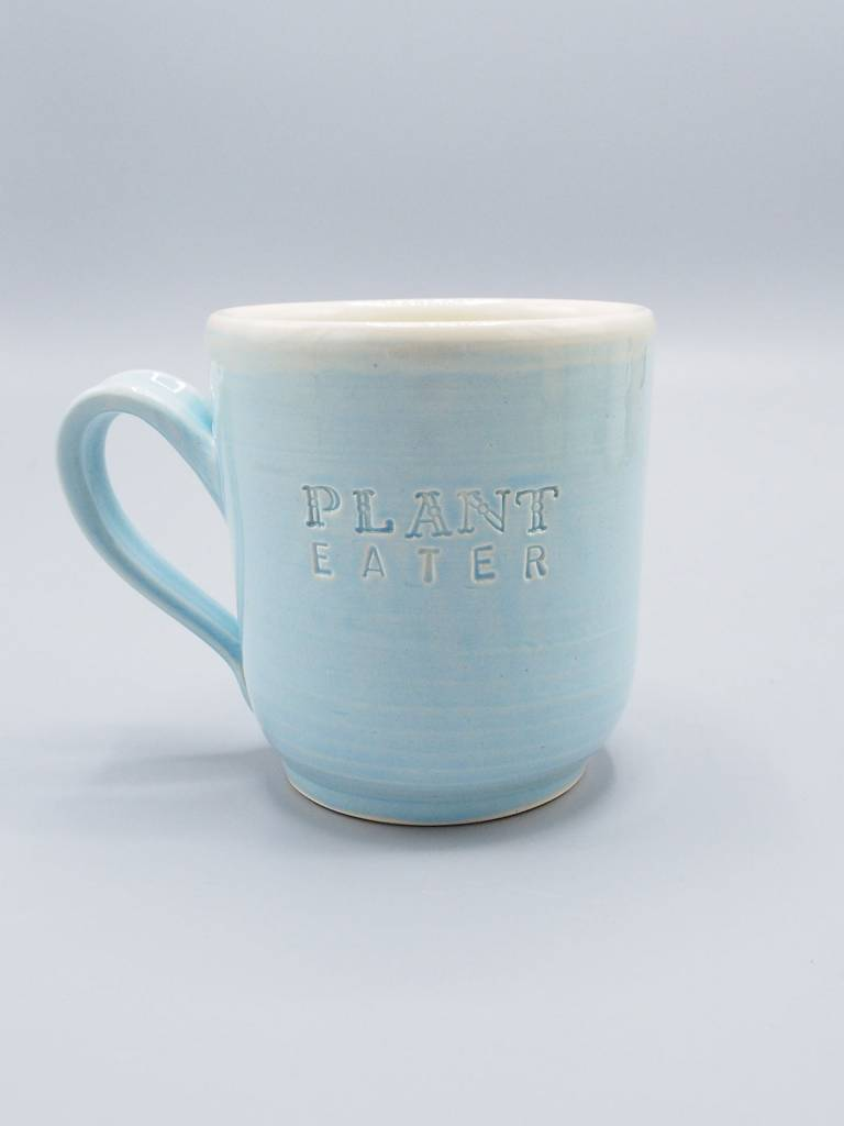 Plant Eater Soft Font Mug by Jeanette Zeis