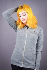 Be Kind Unisex Eco Jersey Zip-Up Hoodie Light Grey
