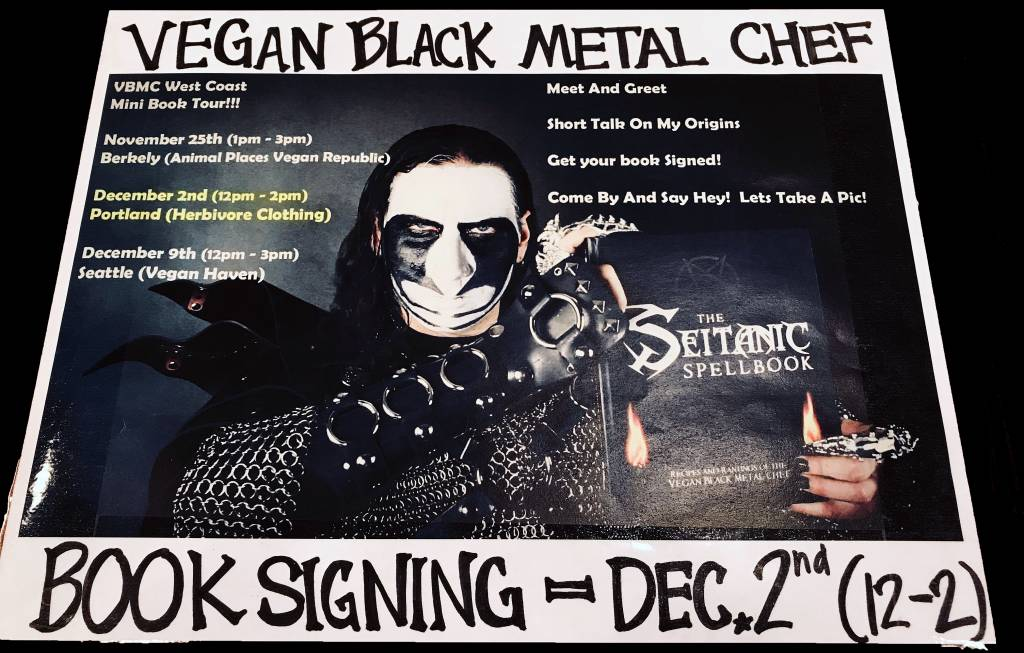 The Seitanic Spellbook * Vegan Black Metal Chef EVENT