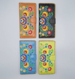 Lavishy Large Embroidered Flowers Wallet