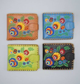 Lavishy Small Embroidered Flowers Wallet