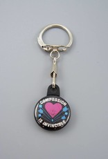 Compassion Is Invincible Arrow Key Chain