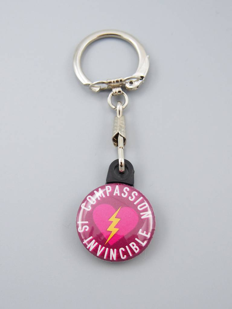 Compassion Is Invincible Bolt Key Chain