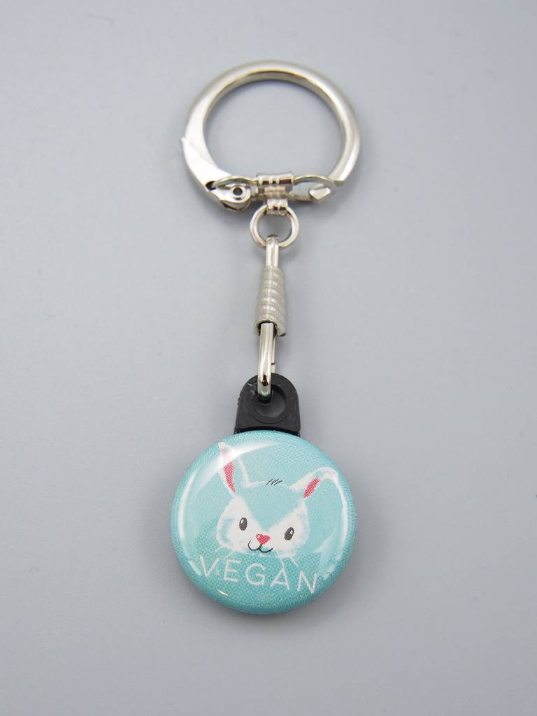 Vegan Bunny Key Chain
