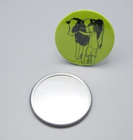 Cow Hugger Pocket Mirror