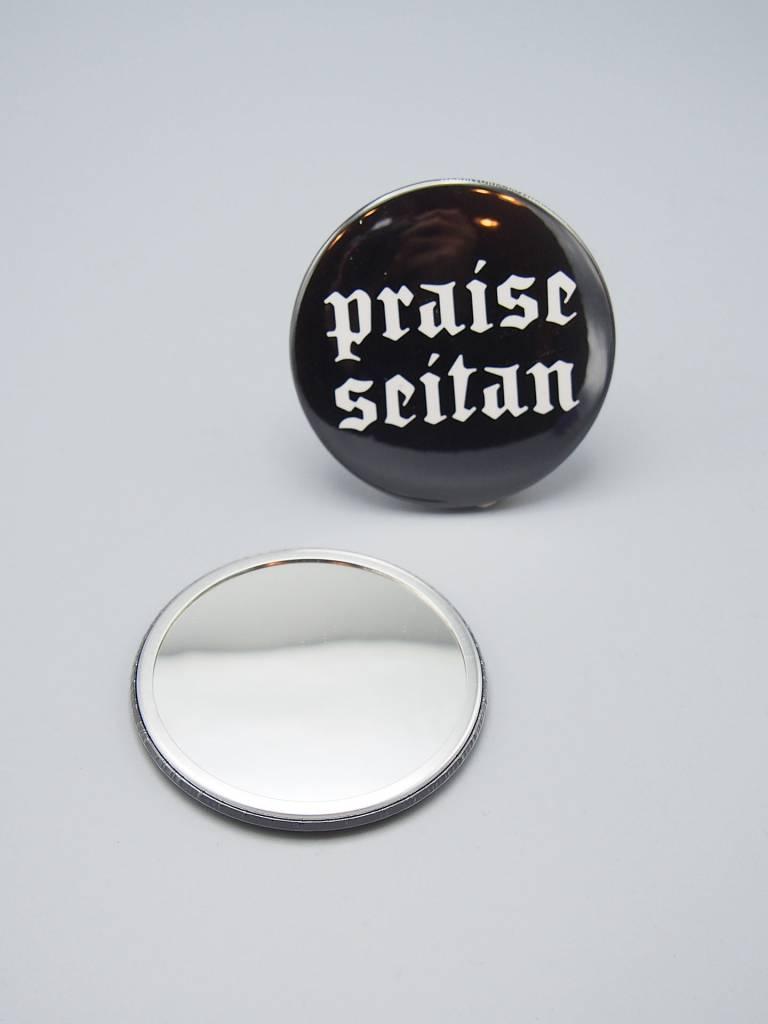 Praise Seitan Pocket Mirror