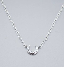Mini Crescent Silver Plated Necklace by Mishakaudi