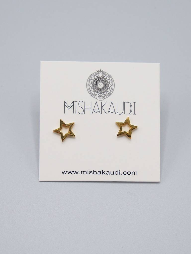 Gold Star Post Earring by Mishakaudi