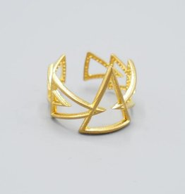 Multi Triangle Brass Ring