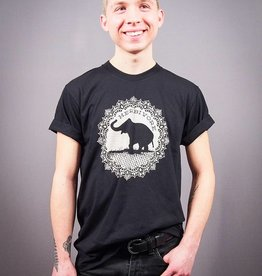 Good Luck Elephant Black Unisex Tee