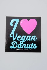 I Heart Vegan Donuts Sticker