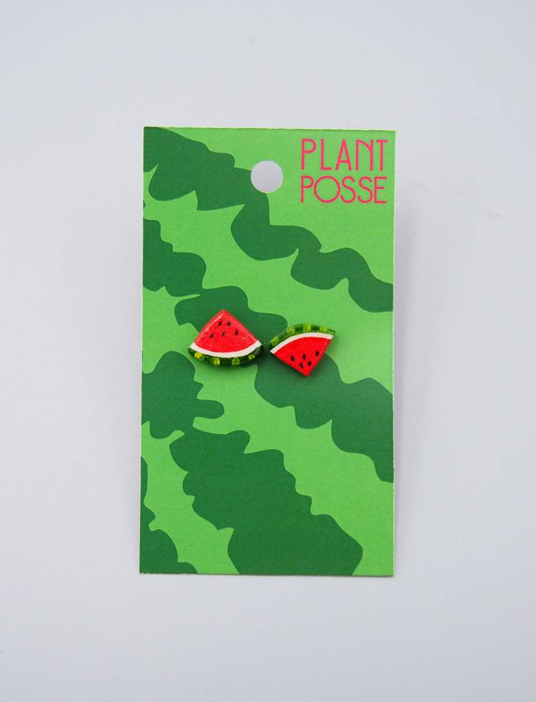 Plant Posse Watermelon Post Earrings