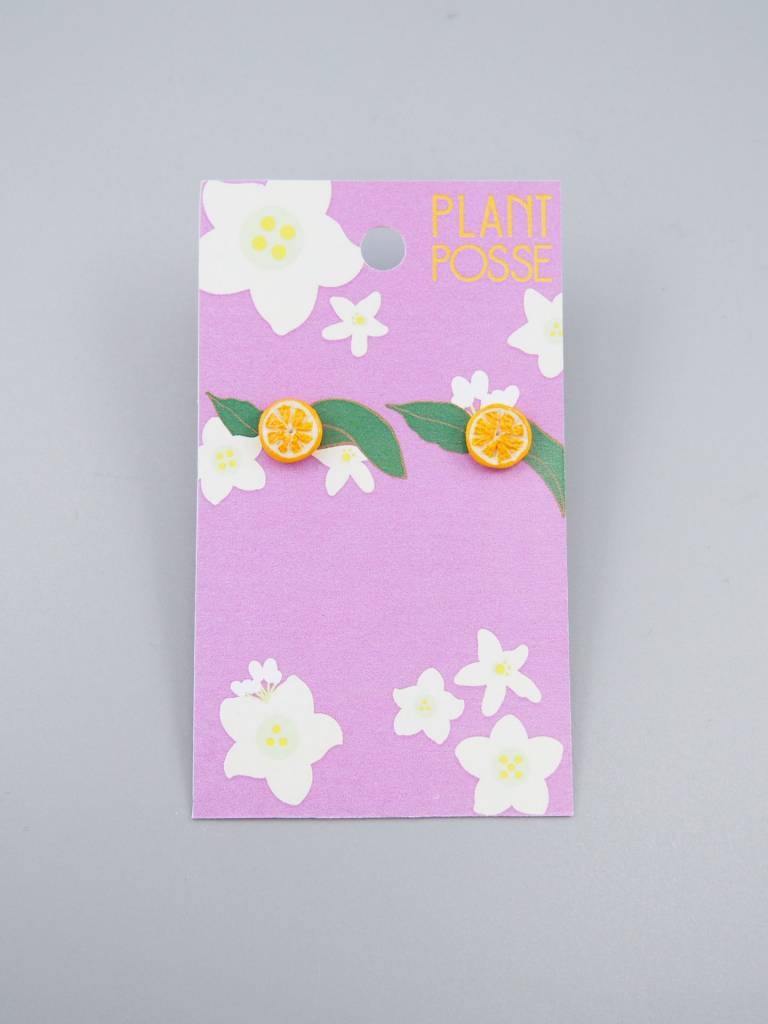 Plant Posse Orange Post Earrings