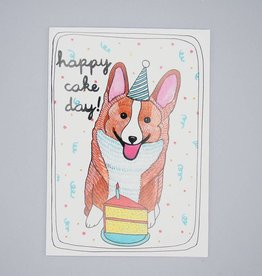 Happy Cake Day! Corgi Card